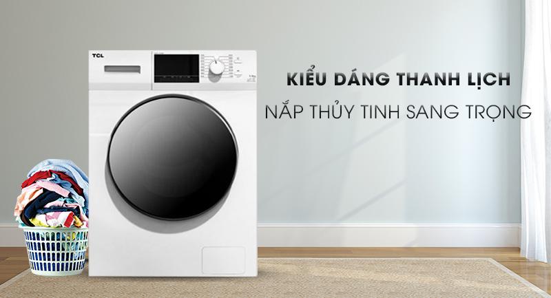 Máy giặt TCL Inverter 8 Kg TWF80-M14303DA03-Kiểu dáng thanh lịch, nắp thủy tinh sang trọng