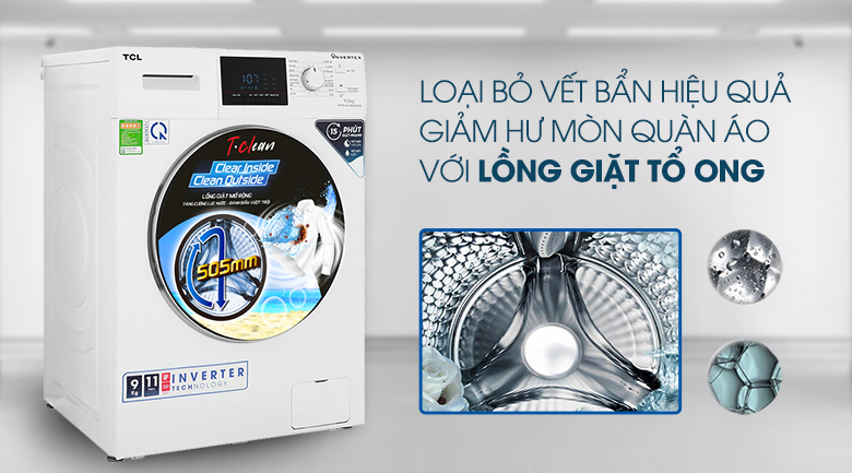 Máy giặt TCL TWF90-M14303DA03 lồng giặt
