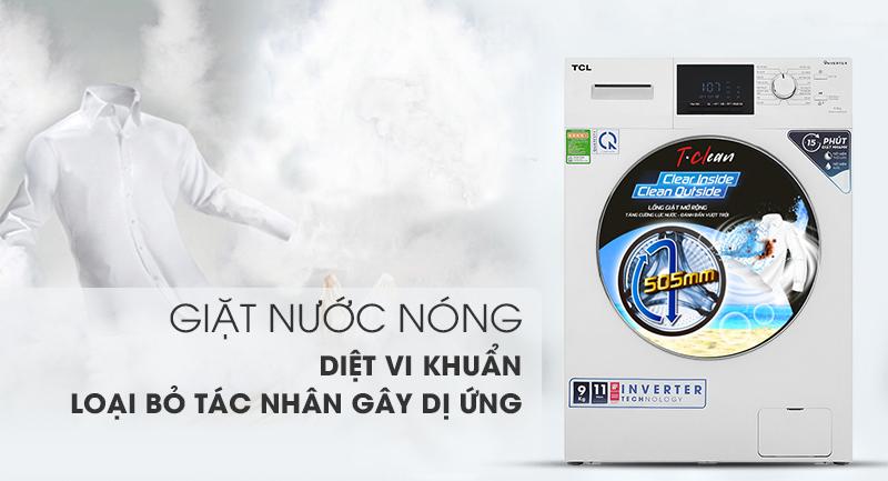 Máy giặt TCL TWF90-M14303DA03 - giặt nước nóng