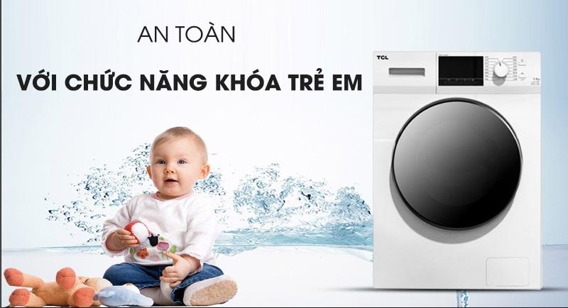 Máy giặt TCL Inverter 10 Kg TWF100-M14303DA03-An toàn với chức năng khóa trẻ em