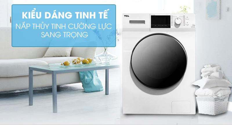 Máy giặt TCL Inverter 10 Kg TWF100-M14303DA03 -Kiểu dáng tinh tế, nắp thủy tinh cường lực sang trọng