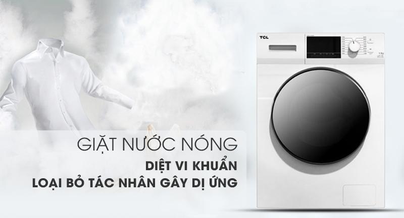 Máy giặt TCL Inverter 10 Kg TWF100-M14303DA03-Diệt khuẩn, loại bỏ tác nhân gây dị ứng nhờ công nghệ giặt nóng