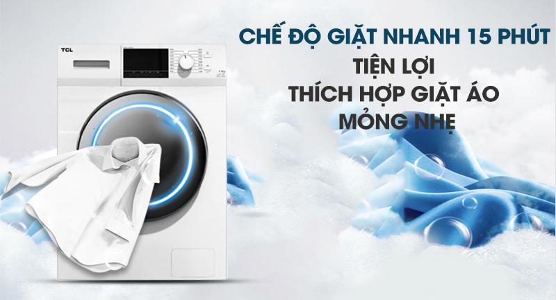 Máy giặt TCL Inverter 10 Kg TWF100-M14303DA03-Tiện lợi với chế độ giặt nhanh 15 phút