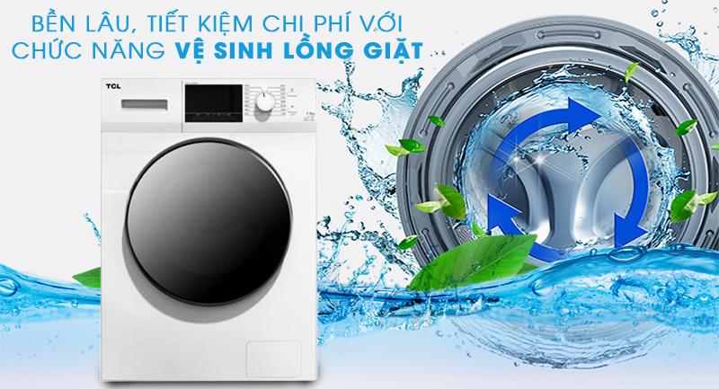 Máy giặt TCL Inverter 10 Kg TWF100-M14303DA03-Bền lâu nhờ tính năng tự vệ sinh lồng giặt