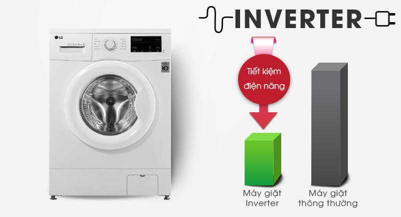 Máy giặt LG Inverter 8 kg FM1208N6W-Sử dụng điện hiệu quả nhờ công nghệ Inverter