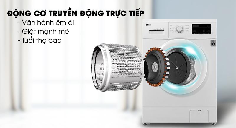 Máy giặt LG Inverter 8 kg FM1208N6W-Vận hành êm ái với động cơ truyền động trực tiếp