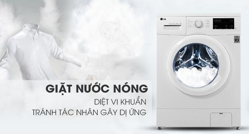 Máy giặt LG Inverter 8 kg FM1208N6W-Diệt khuẩn tối ưu nhờ công nghệ giặt nước nóng