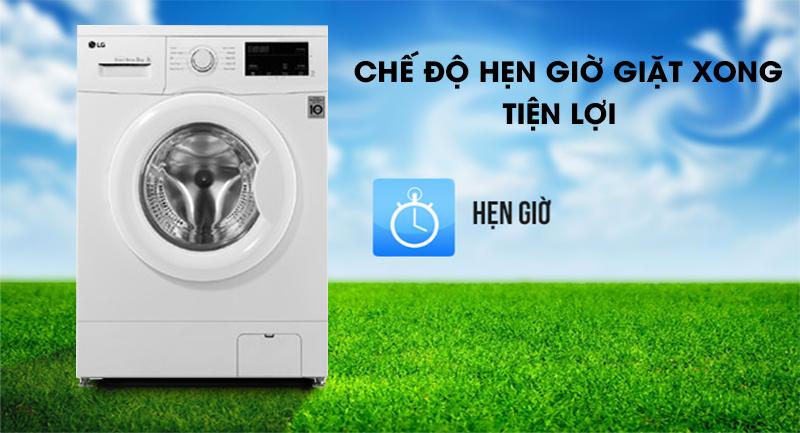Máy giặt LG Inverter 8 kg FM1208N6W-Tiết kiệm thời gian cùng chế độ hẹn giờ giặt