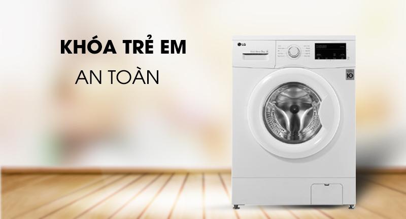 Máy giặt LG Inverter 8 kg FM1208N6W-An toàn với khóa trẻ em