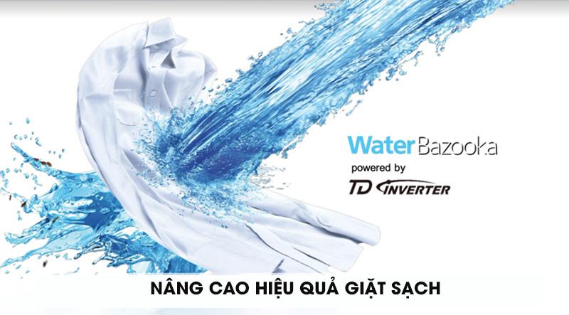 Máy giặt Panasonic Inverter 10.5 Kg NA-FD10AR1BV-Nâng cao hiệu quả giặt sạch cùng xoáy nước Water Bazooka với TD inverter