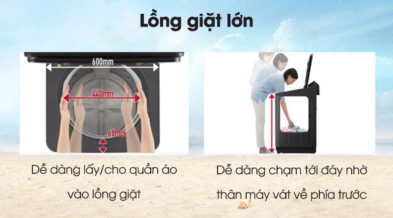 Máy giặt Panasonic Inverter 11.5 Kg NA-FD11AR1BV-Giặt nhiều quần áo và chăn mềm trong lồng giặt lớn