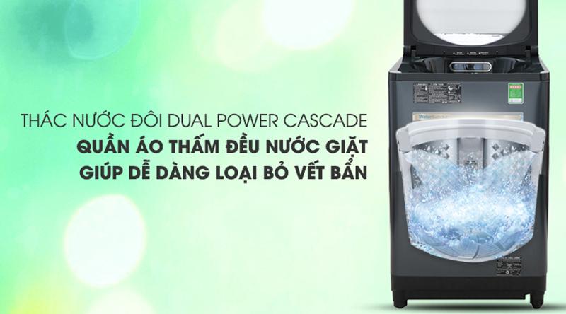 Máy giặt Panasonic Inverter 11.5 Kg NA-FD11AR1BV-Tăng cường tốc độ thẩm thấu nhờ thác nước đôi Dual Power Cascade