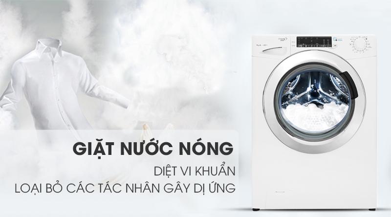 Máy giặt Candy Inverter 9 kg GVS 149THC3/1-04-Diệt khuẩn, loại bỏ các tác nhân gây dị ứng bởi công nghệ giặt nóng