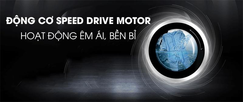 Máy giặt Candy Inverter 9 kg RO 1496DWHC7/1-S-Hoạt động êm, bền bỉ với động cơ mạnh mẽ Speed Drive motor