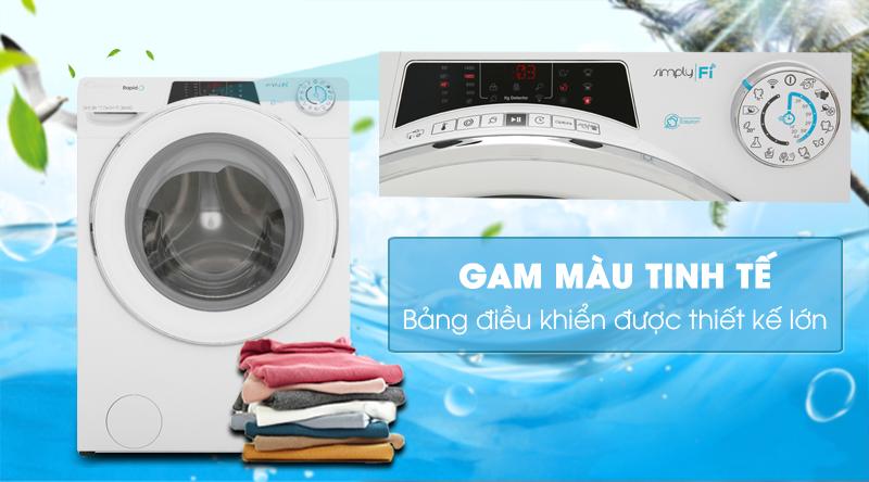 Máy giặt Candy Inverter 10 kg RO 16106DWHC7\1-S-Gam màu tinh tế, bảng điều khiển thiết kế lớn
