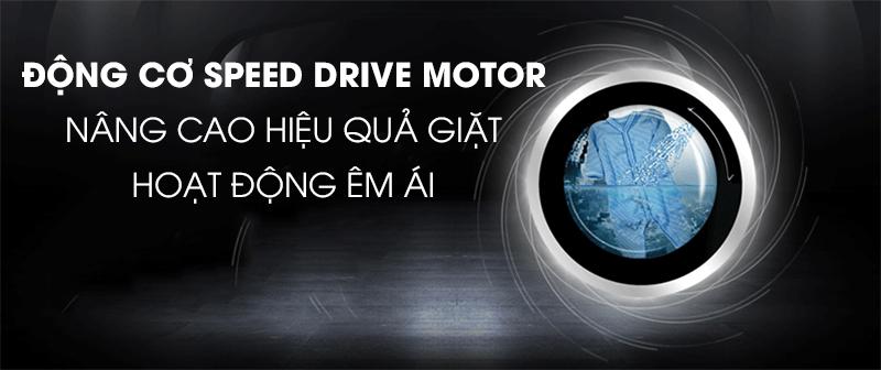 Máy giặt Candy Inverter 10 kg RO 16106DWHC7\1-S-Hoạt động êm, bền bỉ với động cơ Speed Drive motor mạnh mẽ