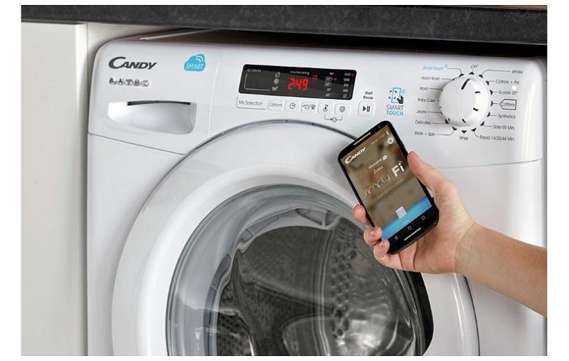 Máy giặt Candy Inverter 10 kg RO 16106DWHC7\1-S-Trải nghiệm công nghệ hiện đại cùng kết nối thông minh Simly - Fi