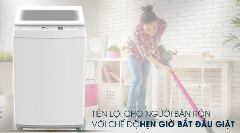 Hẹn giờ giặt - Máy giặt Toshiba 7 kg AW-K800AV(WW)