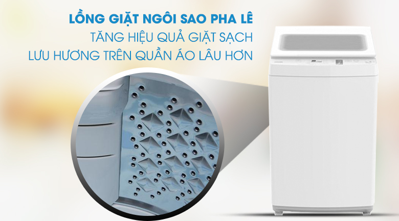 Lồng giặt ngôi sao pha lê - Máy giặt Toshiba 9 kg AW-K1000FV