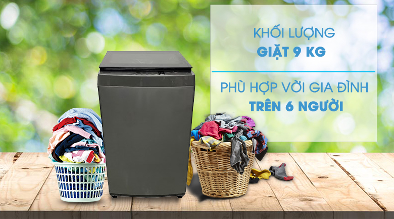 Khối lượng giặt 9 kg - máy giặt Toshiba 9 kg AW-K1005FV