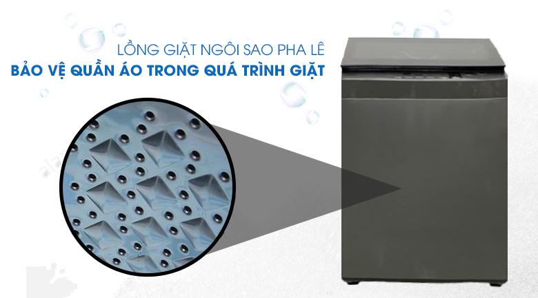 Lồng giặt ngôi sao pha lê - máy giặt Toshiba 9 kg AW-K1005FV