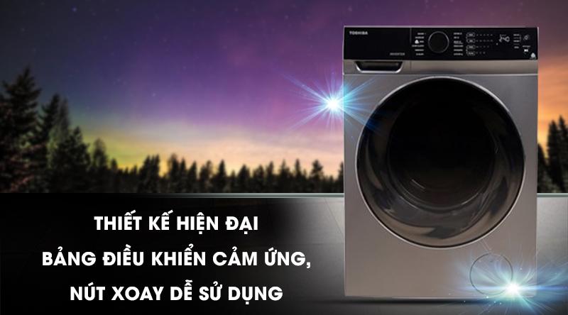 Máy giặt sấy Toshiba Inverter 11 Kg TWD-BJ120M4V(SK)-Thiết kế hiện đại, bảng điều khiển cảm ứng - nút xoay dễ sử dụng