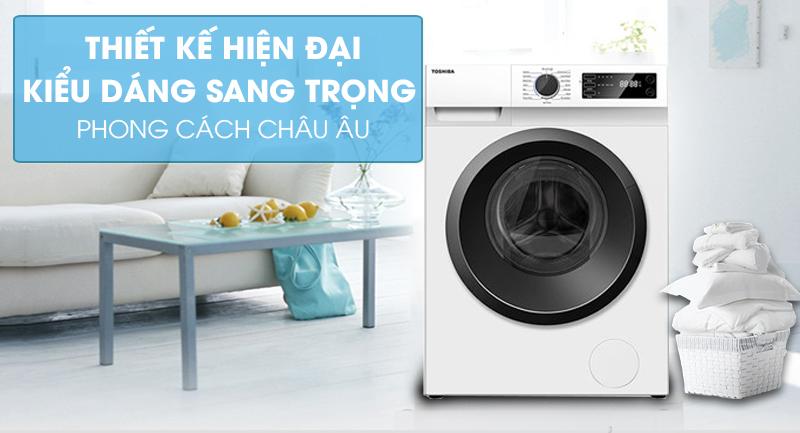 Máy giặt Toshiba Inverter 9.5 Kg TW-BK105S2V(WS) -Thiết kế hiện đại, kiểu dáng sang trọng