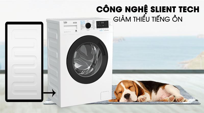 Máy giặt Beko Inverter 8 kg WCV8612XB0ST-Giảm thiểu tiếng ồn khi vận hành nhờ công nghệ Silent Tech