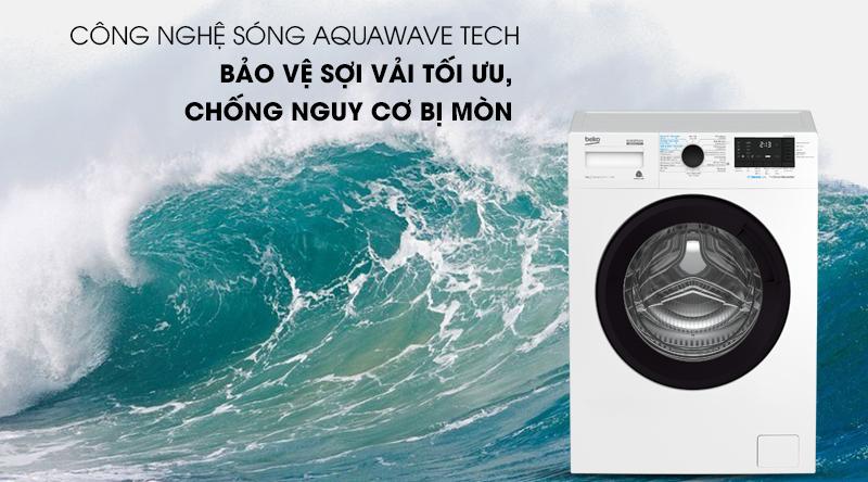 Máy giặt Beko Inverter 8 kg WCV8612XB0ST-Bảo vệ sợi vải tối ưu cùng công nghệ sóng Aquawave Tech