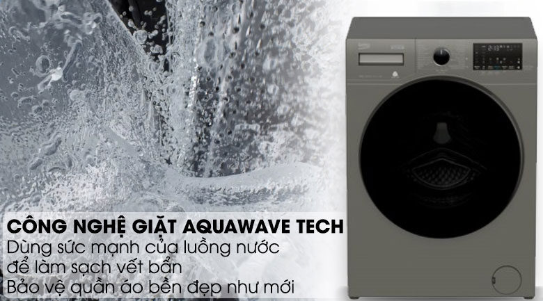 Aquawave Tech-Máy giặt Beko Inverter 10 kg WCV10749XMST