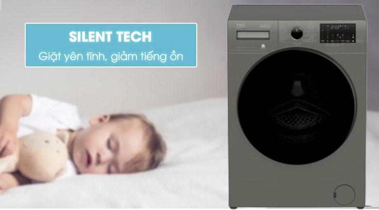 Silent Tech-Máy giặt Beko Inverter 10 kg WCV10749XMST