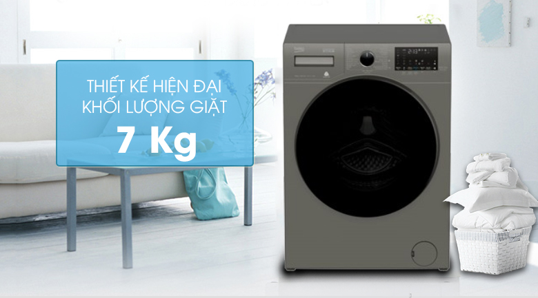 Thiết kế-Máy giặt Beko Inverter 10 kg WCV10749XMST
