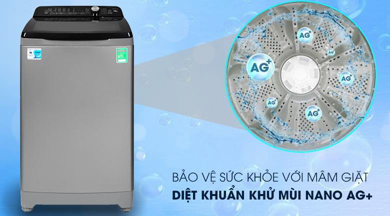 Nano Ag+ - Máy giặt Aqua 10 Kg AQW-FR100ET S