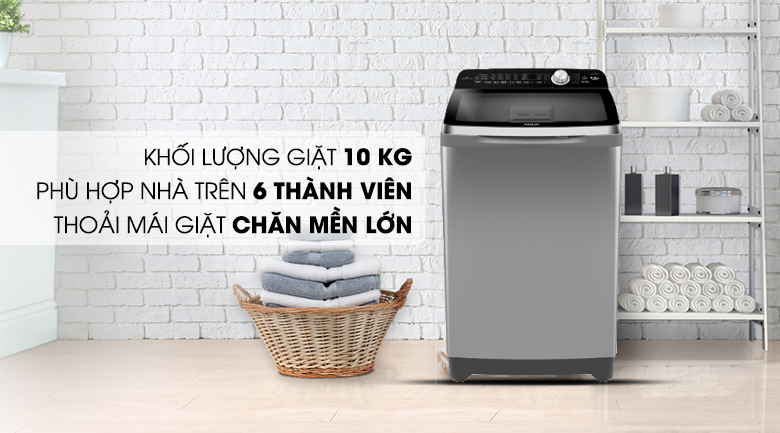 Khối lượng - Máy giặt Aqua 10 Kg AQW-FR100ET S