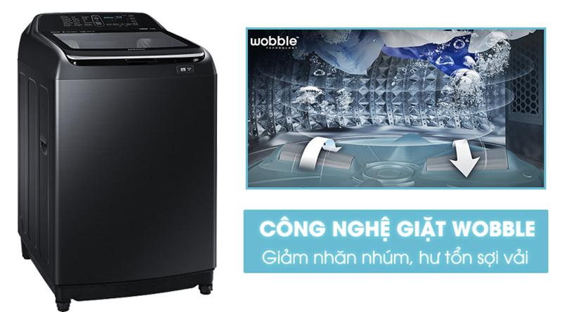 Máy giặt Samsung Inverter 12 kg WA12T5360BV/SV-Đánh bay vết bẩn, bảo vệ sợi vải hiệu quả nhờ công nghệ mâm giặt Wobble