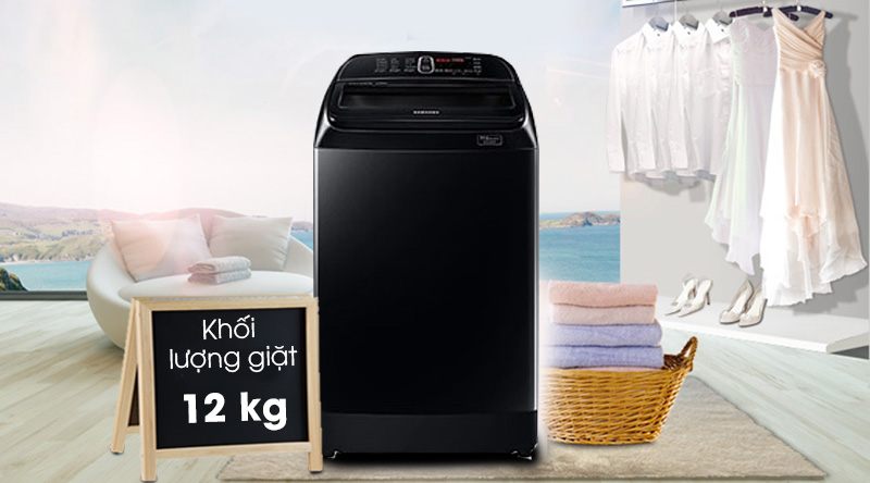 Máy giặt Samsung Inverter 12 kg WA12T5360BV/SV-Khối lượng giặt 12kg, phù hợp cho gia đình trên 6 thành viên