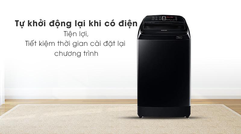 Máy giặt Samsung Inverter 12 kg WA12T5360BV/SV-Tiện lợi với cơ chế tự khởi động lại khi có điện
