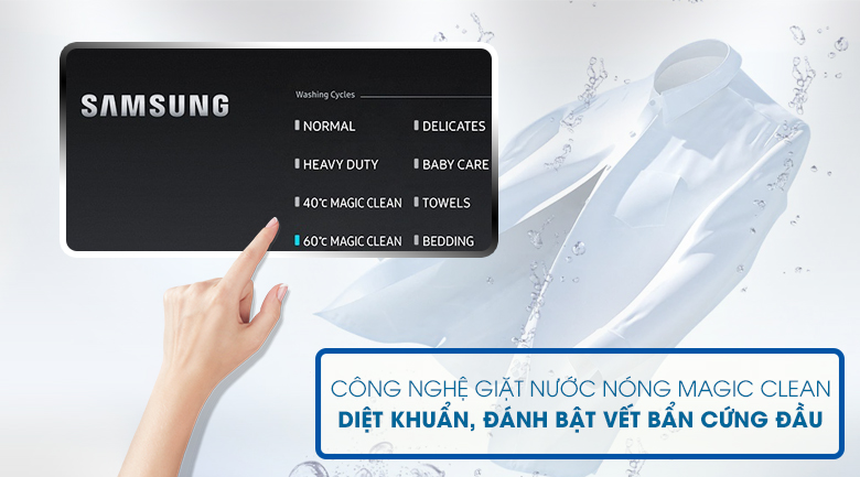 Magic Clean-Máy giặt Samsung Inverter 22 kg WA22R8870GV/SV