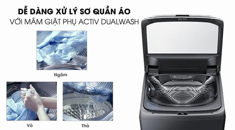 Activ Dualwash-Máy giặt Samsung Inverter 22 kg WA22R8870GV/SV