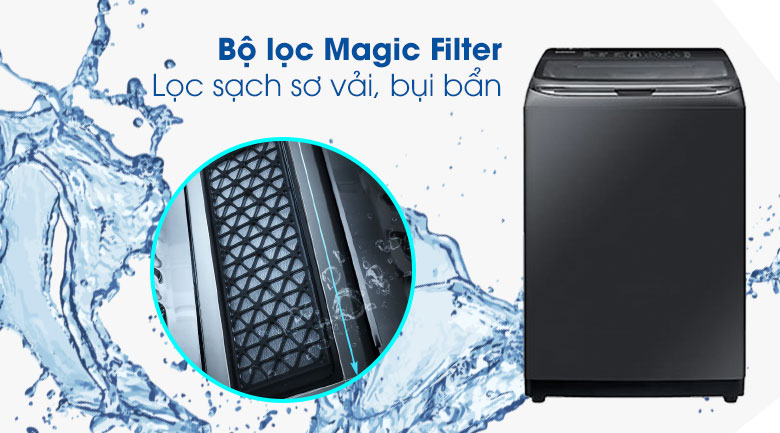 Magic Filter-Máy giặt Samsung Inverter 22 kg WA22R8870GV/SV