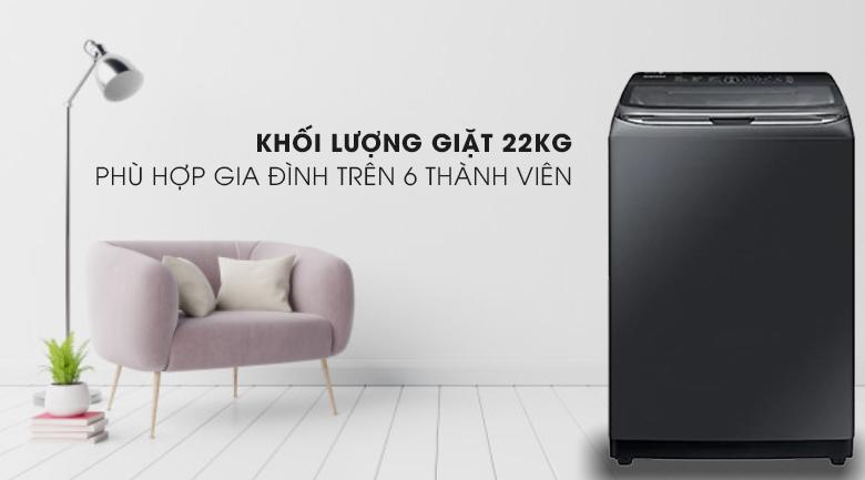Khối lượng-Máy giặt Samsung Inverter 22 kg WA22R8870GV/SV