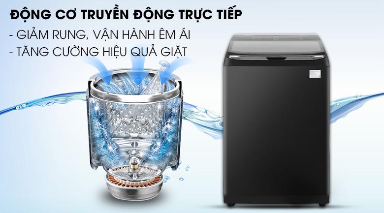 Trang bị động cơ hiện đại - Máy giặt Samsung Inverter 22 kg WA22R8870GV/SV