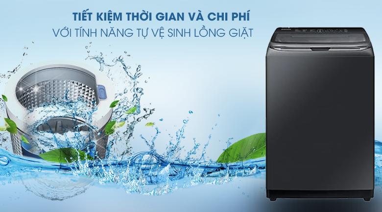 Tự vệ sinh lồng giặt-Máy giặt Samsung Inverter 22 kg WA22R8870GV/SV