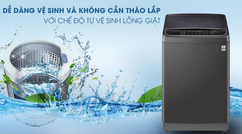 Chế độ tự vệ sinh lồng giặt giúp dễ dàng vệ sinh và không cần tháo lắp