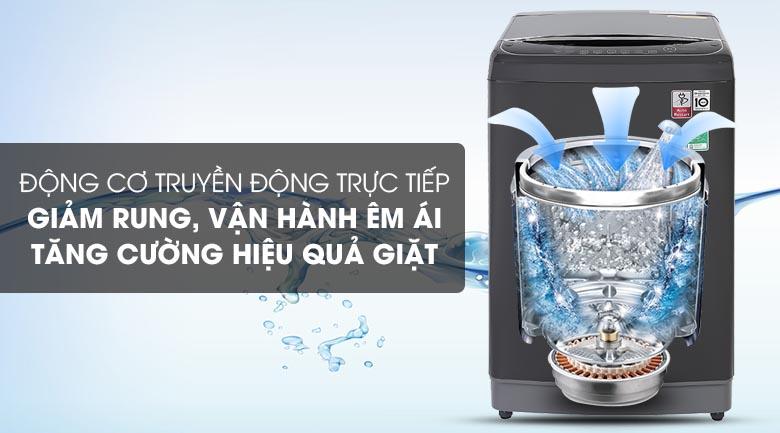 Máy giặt LG TH2111DSAB sử dụng động cơ truyền động trực tiếp
