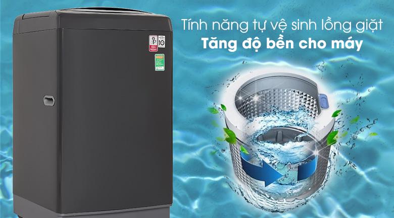 Máy giặt LG TH2111DSAB giúp máy bền bỉ hơn với tính năng tự vệ sinh lồng giặt