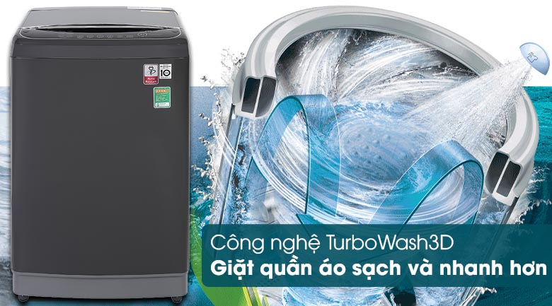 Máy giặt LG TH2111DSAB trang bị công nghệ giặt TurboWash 3D