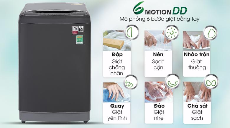 Máy giặt LG TH2111DSAB chăm sóc quần áo với công nghệ 6 motion DD