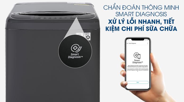 Máy giặt LG TH2111DSAB với tính năng chuẩn đoán lỗi thông minh