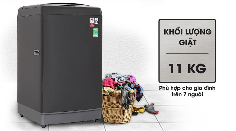 Máy giặt LG TH2111DSAB có khối lượng giặt 11 kg, phù hợp gia đình trên 7 người